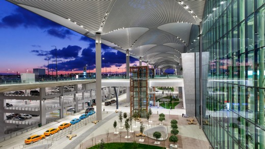 The terminal of Istanbul New Airport is spacious, open and well organised.