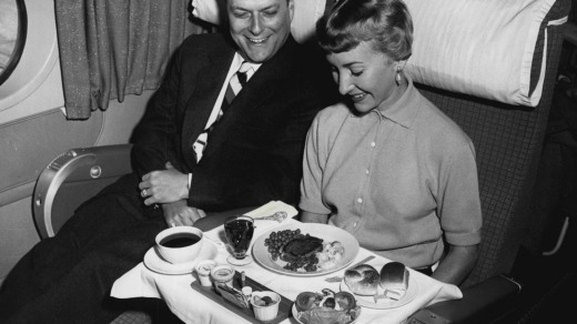 It was in the '40s when everything fell apart for airline meals.