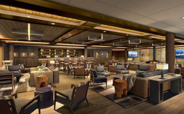 The ship's Expedition Lounge.