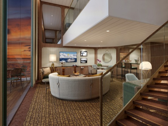 The ship's Wintergarden Suite.