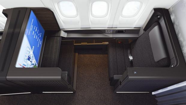 """ANA's new first class seat, """"The Suite"""" for its Boeing 777s."""