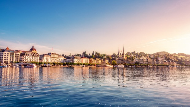 Lucerne and its famous lake.
