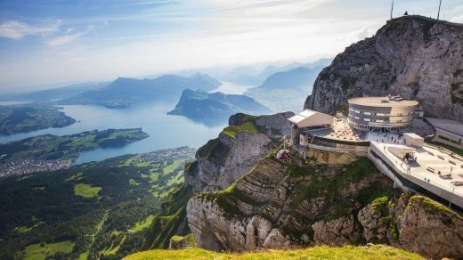 The view from Mount Pilatus, accessible via the world's steepest cogwheel railway.