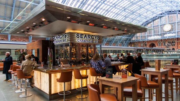 Searcy's Champagne Bar at St Pancras Station, London.