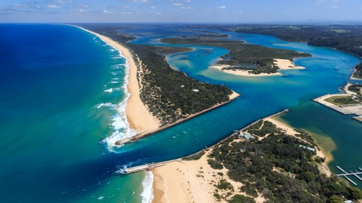 Lakes Entrance's dramatic beaches make it a popular holiday spot.