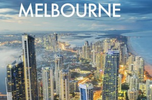 Fodor's '25 Best Melbourne' guide book for 2019, featuring the Gold Coast's skyline.
