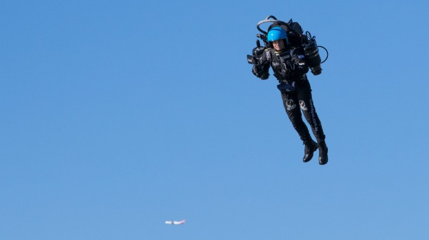 This is the second time someone has been spotted wearing a jet pack in an LAX flight path.