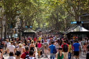 Barcelona's La Rambla. The city is notorious for pickpockets.