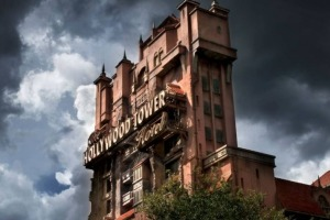 The Tower of Terror at the Hollywood Studios attraction in Florida, US.