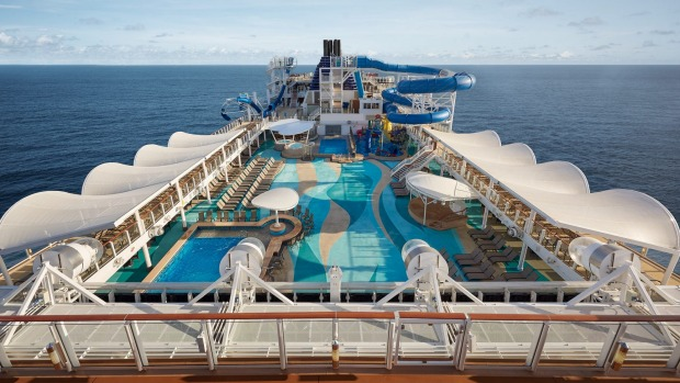 Cruise ship Norwegian Joy. The cruise line will elimated plastic bottles on board its ships by the end of the year.