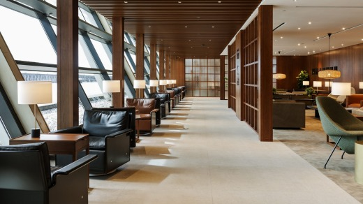 Shanghai Pudong Cathay Pacific Lounge.