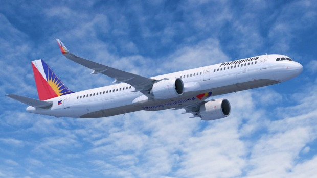 A Philippines Airlines Airbus A321NEO flies Brisbane to Manila five times a week.