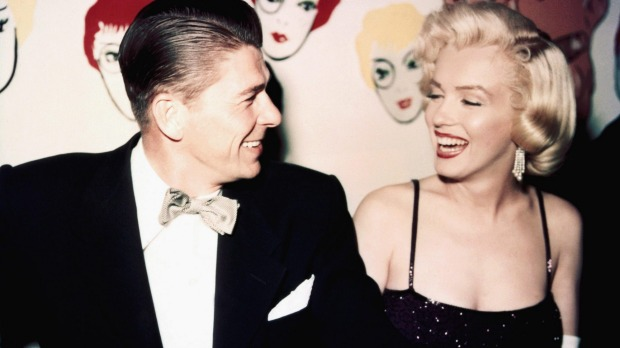 Ronald Reagan and Marilyn Monroe in 1953.