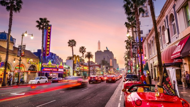 Hollywood Boulevard: The theatre district serves as a famous tourist attraction.