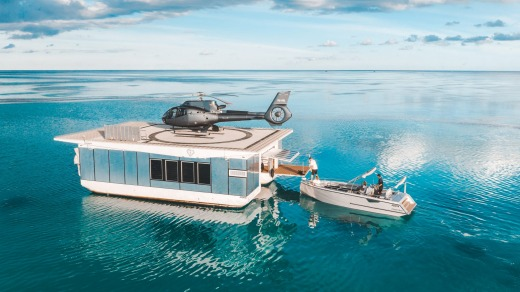 Heart Island pontoon is powered by wind and solar.