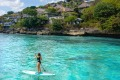 Stand up paddleboarding on magical Nusa Lembongan.
