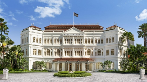 Raffles Hotel - a Singaporean national monument - has reopened after a multi-million dollar facelift.