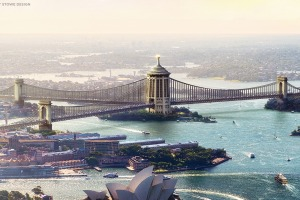 Sydney Harbour bridge designs