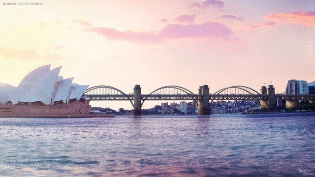 The Norman Selfe triple arch: Imagine, instead of having one Sydney Harbour Bridge, you could have three fun-sized ...