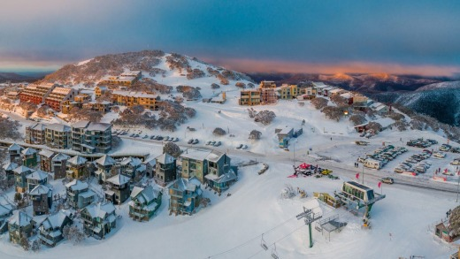Hotham's ridge-top village offers spectacular views and straight-to-the-slopes access.