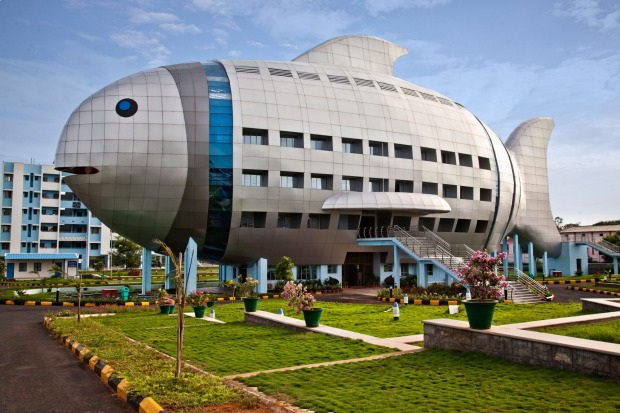 The National Fisheries Development Board, India: Important decisions undoubtedly get made inside this building in ...