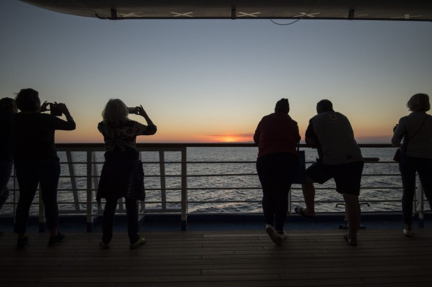 Sunset on board P&O Pacific Explorer.