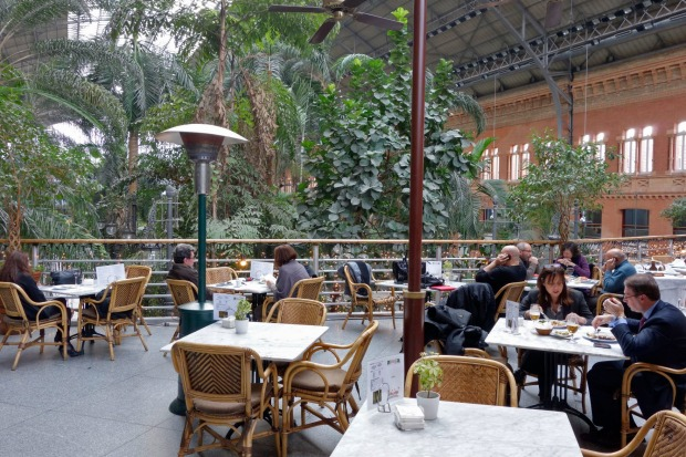 MADRID SAMARKANDA  At Madrid's Puerta de Atocha railway station, you can hop on a high-speed train to Barcelona and ...