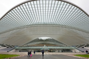 Arrive by train if you can – Guillemins station is a visually stunning, free-flowing architectural marvel.