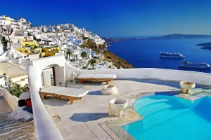 The island of Santorini, Greece. Greece will allow tourists from 29 countries to visit from June 15.
