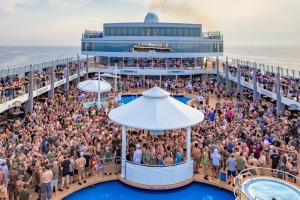 A party gets underway on one of Atlantis' cruises.