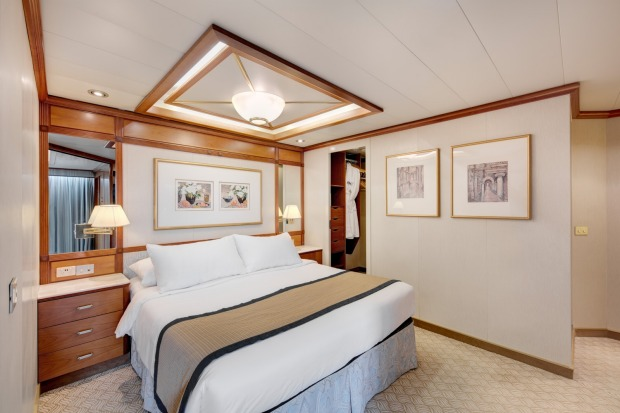 A cabin on Pacific Explorer.
