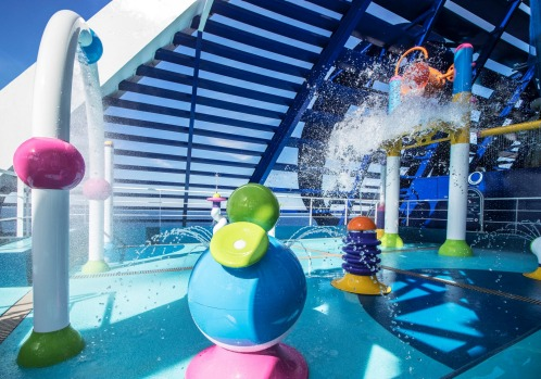 The waterpark on Pacific Explorer.