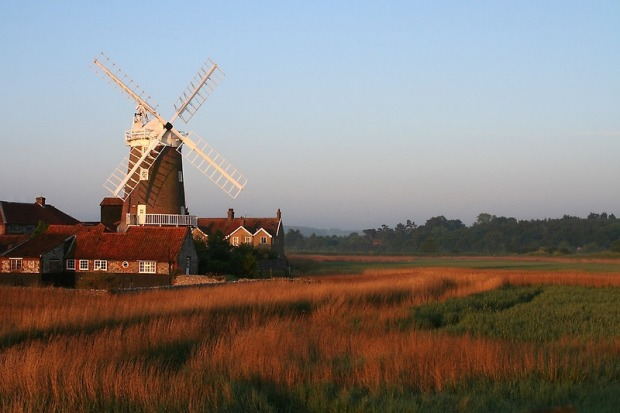 Cley Windmill, England: In coastal Norfolk, the Cley Windmill's blades no longer turn and maintaining the 18th century ...