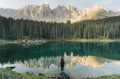 Europe offers many great hikes for travellers: Lago di Carezza in Dolomites.