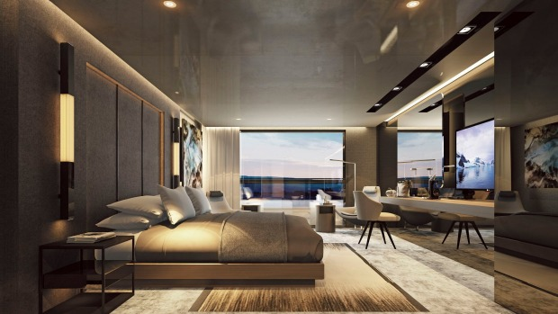 The owner's penthouse suite on luxury liner Scenic Eclipse.