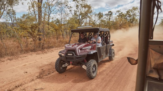 Each guest room is assigned its own buggy, and there's also tours to the far reaches of the property.
