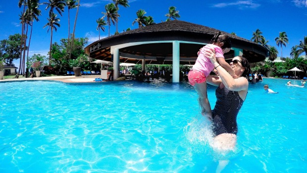 Family fun in Fiji.