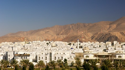 A suburb of new Muscat, the capital of the Sultanate of Oman.