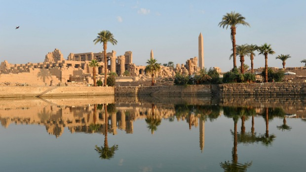 The Ancient Egyptian temple of Karnak, in Luxor, Egypt.