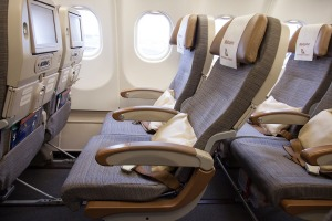 Seat width is closer to what you get on a low-cost carrier than a legacy airline.