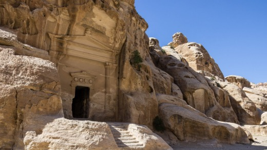 A cave tomb in Little Petra.