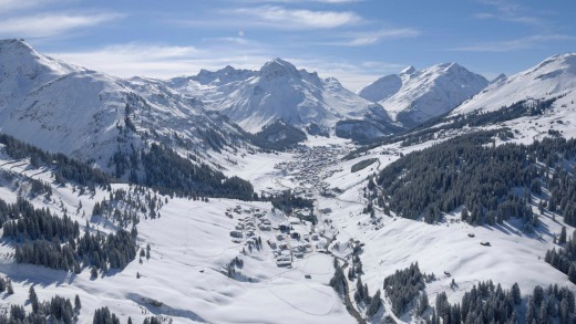 View over the valley and village of Lech.
