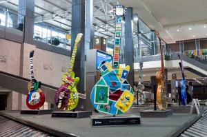 Art Guitars in the Austin-Bergstrom Airport.