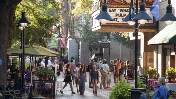 Pretty as a picture: Charlottesville's Downtown Mall.
