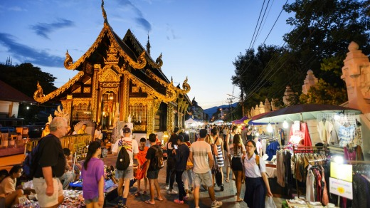 Street night markets are where you want to be for handmade-souvenir shopping and tasty street snacks.