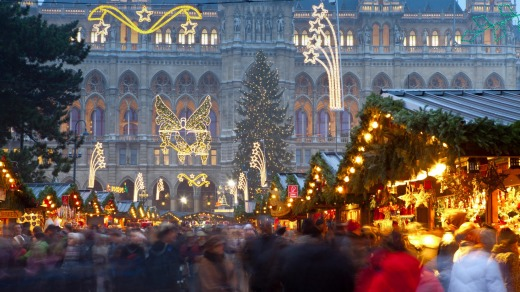 Christmas markets in Vienna.