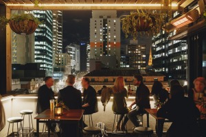 Bomba Rooftop Bar in Melbourne.