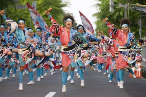 Dancers during the five-day Yosakoi Soran Festival.