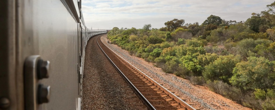 *FILE* The Ghan travelling through the Northern Territory, Friday, November 17, 2017. The Ghan train service is marking ...