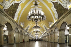 The Komsomolskaya metro station opened in 1952.